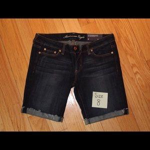 AE Skinny Bermuda Jean Shorts